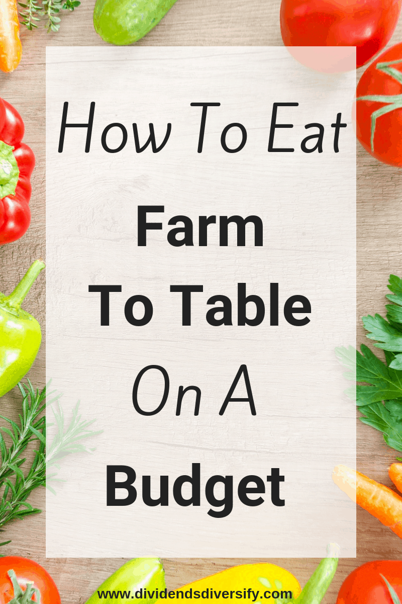 Eat great on a budget. Enjoy your local farmer's bounty without the high price tag. #savemoney #frugalliving #food #healthyeating