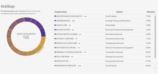 Emperor Investments all stock portfolio to meet my goal