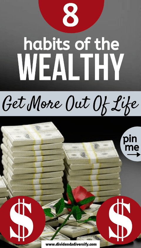 Pinterest pin depicting wealth and success