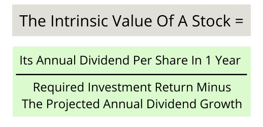 Gordon dividend growth formula
