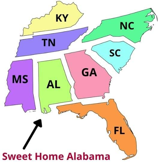 living in Alabama pros and cons